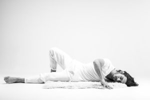 yin yoga, 'fallen angel' pose, yin yoga sequencing, yoga mat, sheepskin